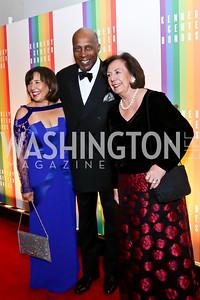 Toni Bush, Vernon Jordan, Ann Jordan. Photo by Tony Powell. 2014 Kennedy Center Honors Red Carpet. December 7, 2014
