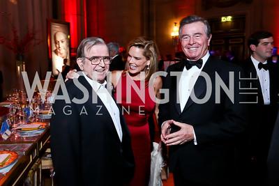 Morton Bender, Ann Jones, Paul Stern. Photo by Tony Powell. 2014 LUNGevity Gala. Mellon Auditorium. October 24, 2014