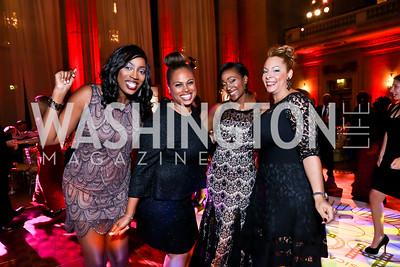Jen Richardson, Jessica Stafford Davis, Chef Jess, Dawn Stafford. Photo by Tony Powell. 2014 LUNGevity Gala. Mellon Auditorium. October 24, 2014