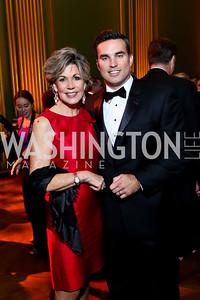 Greta Kreuz, Doug Kammerer. Photo by Tony Powell. 2014 LUNGevity Gala. Mellon Auditorium. October 24, 2014