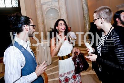 Jonathan Tucker, Noura Erakat, Kath Henshaw. Photo by Tony Powell. Letelier-Moffitt Human Rights Awards. Carnegie Institute. October 14, 2014