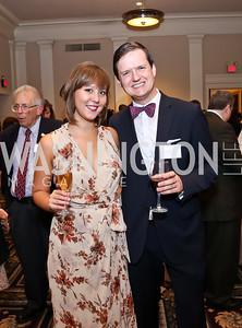Emily Norton, Steve Goetz. Photo by Tony Powell. Letelier-Moffitt Human Rights Awards. Carnegie Institute. October 14, 2014
