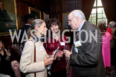 Linda Saffiotti, Nahid Nasrat-Aziz, Ron Carver. Photo by Tony Powell. Letelier-Moffitt Human Rights Awards. Carnegie Institute. October 14, 2014