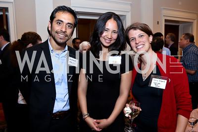 Salvador Sarmiento, Kaja Baum, Sonia Silbert. Photo by Tony Powell. Letelier-Moffitt Human Rights Awards. Carnegie Institute. October 14, 2014