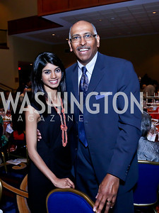 Bindhu Pamarthi, Michael Steele. Photo by Tony Powell. 2014 Women on the Move Luncheon. Marriott Wardman Park. April 30, 2014