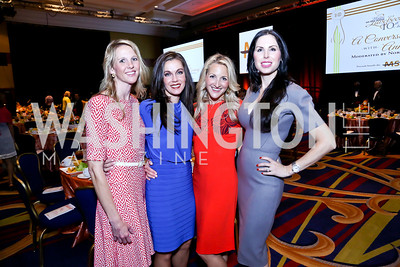 Kellie Romer, Jill Hodges, Carrie Marriott, Amy Baier. Photo by Tony Powell. 2014 Women on the Move Luncheon. Marriott Wardman Park. April 30, 2014