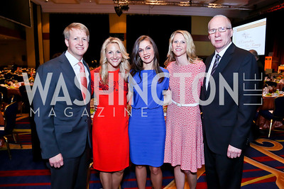 David and Carrie Marriott, Jill Hodges, Kellie Romer, Kevin Chugg. Photo by Tony Powell. 2014 Women on the Move Luncheon. Marriott Wardman Park. April 30, 2014