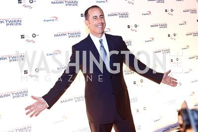 Jerry Seinfeld. Photo by Tony Powell. 2014 Mark Twain Prize. Kennedy Center. October 19, 2014