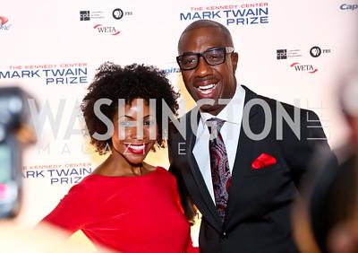 Shahidah Omar and J.B. Smoove. Photo by Tony Powell. 2014 Mark Twain Prize. Kennedy Center. October 19, 2014