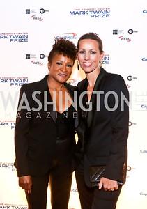 Wanda and Alex Sykes. Photo by Tony Powell. 2014 Mark Twain Prize. Kennedy Center. October 19, 2014