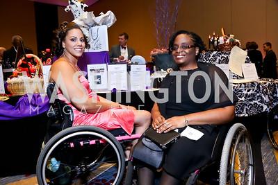 Chanelle Houston, Twila Hunt. Photo by Tony Powell. 2014 Medstar NRH Gala. Marriott Marquis. October 30, 2014