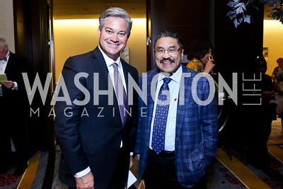 Mark Lowham, Bob Hisaoka. Photo by Tony Powell. 2014 Medstar NRH Gala. Marriott Marquis. October 30, 2014