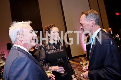 Brian Miller, Emily Riffle, John O'Connell. Photo by Tony Powell. 2014 Medstar NRH Gala. Marriott Marquis. October 30, 2014