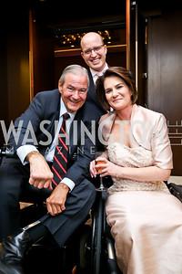 National Rehabilitation Hospital Founder and President Ed Eckenhoff, Jeff Mason, Stacy Kaye. Photo by Tony Powell. 2014 Medstar NRH Gala. Marriott Marquis. October 30, 2014