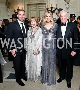 Matt Bronczek, Ann Hand, Ashley Bronczek, Lloyd Hand. Photo by Tony Powell. 2014 Meridian Ball. October 17, 2014