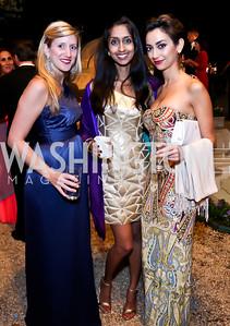 Caroline Berger, Kavya Rao, Christina Nemr. Photo by Tony Powell. 2014 Meridian Ball. October 17, 2014