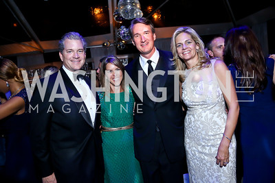 Nels Olson, Suzanne and Glenn Youngkin, Kristen Olson. Photo by Tony Powell. 2014 Meridian Ball. October 17, 2014