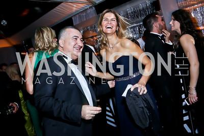 Azerbaijan Amb. Elin Suleymanov and Lala Suleymanov. Photo by Tony Powell. 2014 Meridian Ball. October 17, 2014