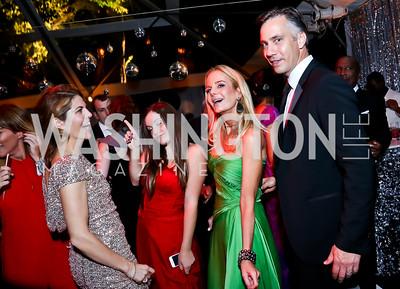 Gloria Riviera, Jocelyn Quinn, Susanna Quinn, Jim Sciutto. Photo by Tony Powell. 2014 Meridian Ball. October 17, 2014