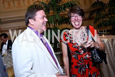 Stephen Godbout, Christina Stenning. Photo by Tony Powell. Metro TeenAIDS Gala and Auction. Union Station. June 11, 2014