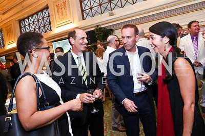 Danielle Davis, Carl Schmid, Tim Downey, Carol Garrison. Photo by Tony Powell. Metro TeenAIDS Gala and Auction. Union Station. June 11, 2014