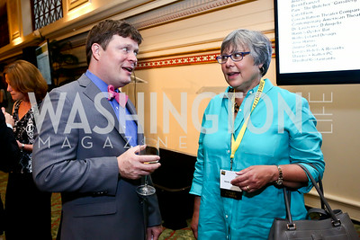 Nathaniel Beers, Wendy Goldberg. Photo by Tony Powell. Metro TeenAIDS Gala and Auction. Union Station. June 11, 2014
