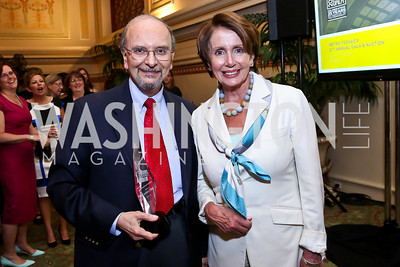 Metro TeenAIDS founder Dr. Lawrence D'Angelo, Leader Nancy Pelosi. Photo by Tony Powell. Metro TeenAIDS Gala and Auction. Union Station. June 11, 2014