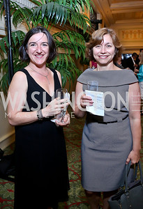 Agnes Couffinhal, Julie Wagner. Photo by Tony Powell. Metro TeenAIDS Gala and Auction. Union Station. June 11, 2014