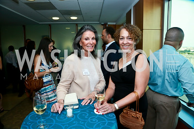 Meryl Comer, Leslie Hamburger. Photo by Tony Powell. Milken Scholars Recognition Dinner. Elliott School, GWU. July 12, 2014