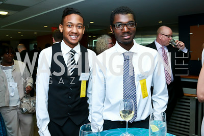 2014 Milken Scholars Daniel Spruill and Stewart Gray III. Photo by Tony Powell. Milken Scholars Recognition Dinner. Elliott School, GWU. July 12, 2014