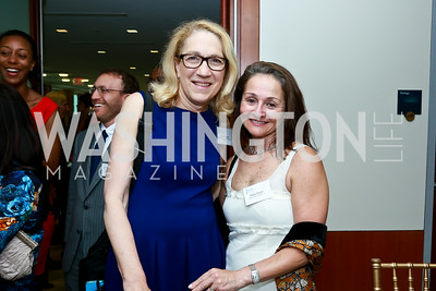 Dr. Lynn Goldman, Phyllis Bresler. Photo by Tony Powell. Milken Scholars Recognition Dinner. Elliott School, GWU. July 12, 2014