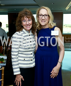Dr. Jane Foley, Dr. Lynn Goldman. Photo by Tony Powell. Milken Scholars Recognition Dinner. Elliott School, GWU. July 12, 2014