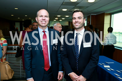 David Catania, Brendan Williams Kief. Photo by Tony Powell. Milken Scholars Recognition Dinner. Elliott School, GWU. July 12, 2014
