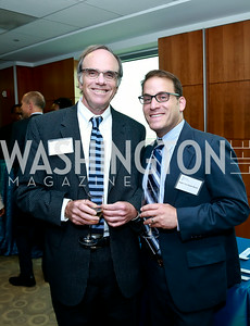 Dr. Michael Feuer, Rabbi Yoni Kaiser-Blueth. Photo by Tony Powell. Milken Scholars Recognition Dinner. Elliott School, GWU. July 12, 2014