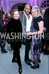 Lizette Corro, Aaron Jackson, Deborah Sigmund. Photo by Tony Powell. 2014 Noche de Pasion. The Residence of the Ambassador of Colombia. February 8, 2014
