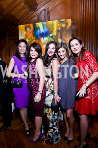 Asako Wong, Anna Trone, Jennifer Whipp, Karen Donatelli, Laura Zapata. Photo by Tony Powell. 2014 Noche de Pasion. The Residence of the Ambassador of Colombia. February 8, 2014