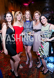 Cristina Vaughan, Kristin Kuehl, Carolyn Niles, Katharine Weymouth, Jessica Springsteen. Photo by Tony Powell. 2014 Noche de Pasion. The Residence of the Ambassador of Colombia. February 8, 2014