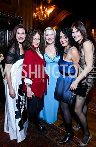 Ilyse Hogue, Julia Cohen, Kate Damon, Roshanak Ameli-Tehrani, Sarah Ingersoll. Photo by Tony Powell. 2014 Noche de Pasion. The Residence of the Ambassador of Colombia. February 8, 2014