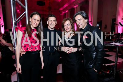 Argentina Amb. Cecilia Nahon, Julio Bocca, OAS Amb. Nilda Garre, Septime Webre. Photo by Tony Powell. 2014 Noche de Gala. OAS. November 8, 2014