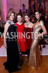 Co-Chairs Mayra Addison, Laura Swanstrom Reece, Pilar O'Leary and Reem Sadik. Photo by Tony Powell. 2014 Noche de Gala. OAS. November 8, 2014