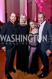 Matt and Ashley Bronczek, Stephanie Cate, Winston Bao Lord. Photo by Tony Powell. 2014 Noche de Gala. OAS. November 8, 2014