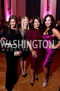 Karen Donatelli, Maureen Curley, Anna Trone, Jennifer Whipp. Photo by Tony Powell. 2014 Noche de Gala. OAS. November 8, 2014