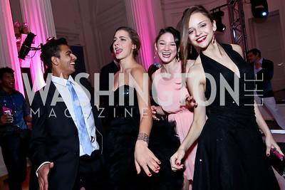 Gustavo Ribeiro, Delaney Zieg, Claire Rathbun, Carmen Salta. Photo by Tony Powell. 2014 Noche de Gala. OAS. November 8, 2014