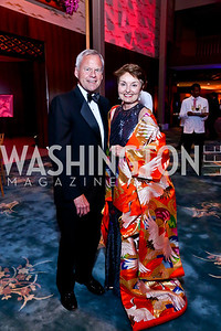 John and Antonia Gore. Photo by Tony Powell. 2014 Opera Ball. Japanese Ambassador's Residence. June 7, 2014