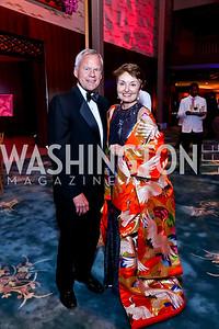 John and Antonia Gore. Photo by Tony Powell. 2014 Opera Ball. Japanese Ambassador's Residence. June 7, 2014