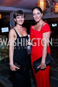 Claudia Cotca, Amanda Whiting. Photo by Tony Powell. 2014 Opera Ball. Japanese Ambassador's Residence. June 7, 2014