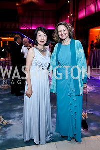 Nobuko Sasae, Laura Denise Bisogniero. Photo by Tony Powell. 2014 Opera Ball. Japanese Ambassador's Residence. June 7, 2014