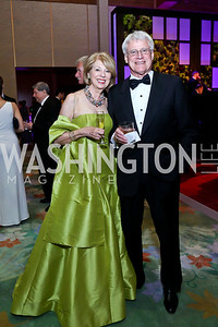Terry Thompson, John Kerby. Photo by Tony Powell. 2014 Opera Ball. Japanese Ambassador's Residence. June 7, 2014