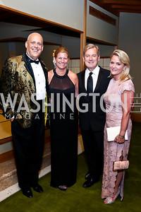 Larry Bauer, Kiki Kienstra, Mark and Lyn McFadden. Photo by Tony Powell. 2014 Opera Ball. Japanese Ambassador's Residence. June 7, 2014