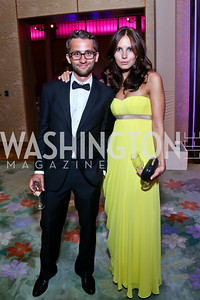 Dmitry and Yulia Chernyshev. Photo by Tony Powell. 2014 Opera Ball. Japanese Ambassador's Residence. June 7, 2014